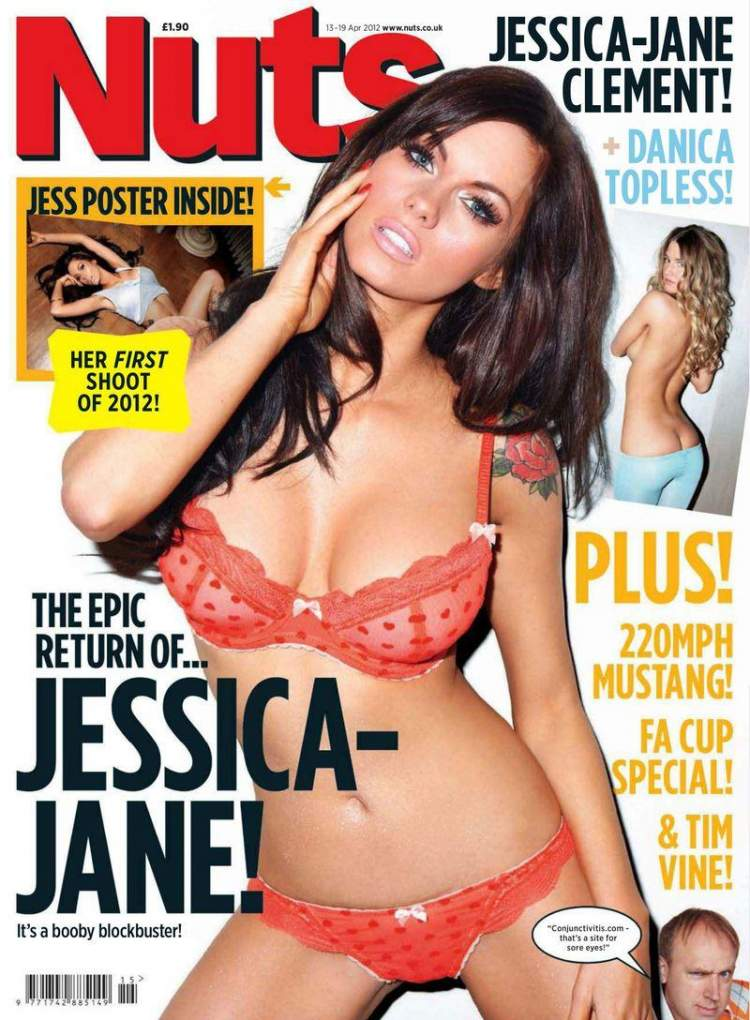 Обнаженная Jessica Jane Clement - Nuts April 2012  UK