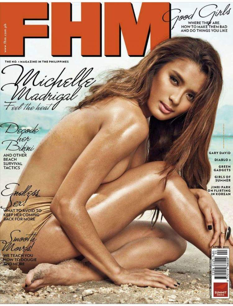 Обнаженная Michelle Madrigal - FHM April 2012  Philippines