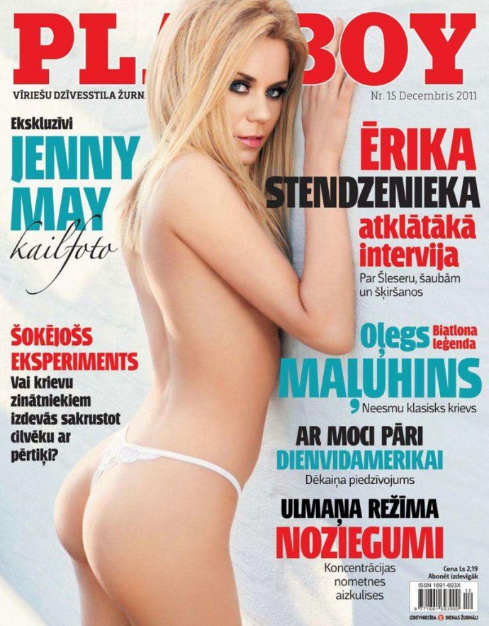 Голая звезда Jenny May - Playboy December 2011 (12-2011) Latvia