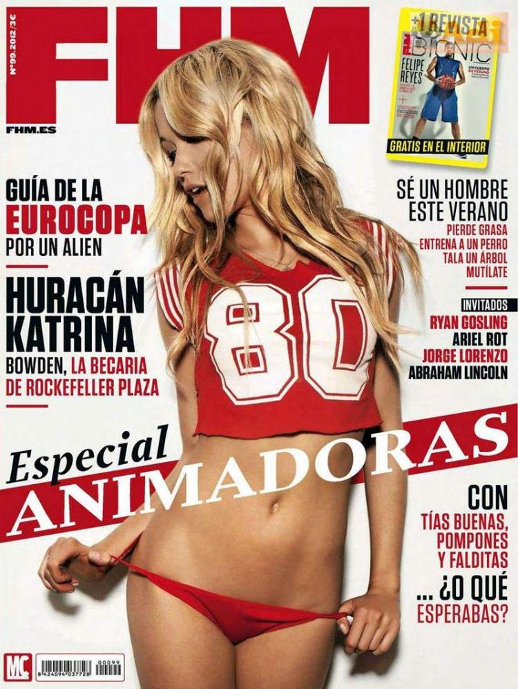 Обнаженная Katrina Bowden - FHM June 2012  Spain