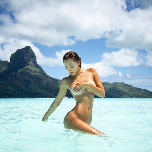 Alexis Ren - by Kim Akrich on Bora Bora